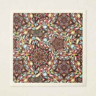 カラフルな抽象デザイン スタンダードランチョンナプキン
