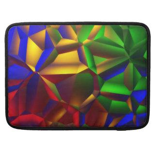カラフルな抽象美術のデザイン MacBook PROスリーブ