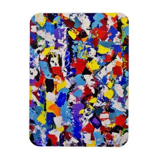 カラフルな抽象美術の絵画のデザイン マグネット