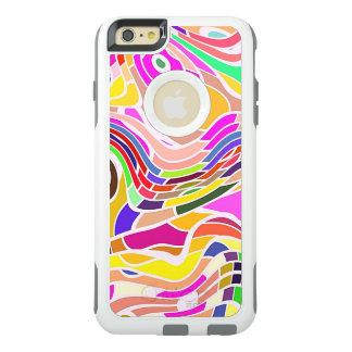 カラフルな抽象美術、カラフルの形の陰刻 オッターボックスiPhone 6/6S PLUSケース