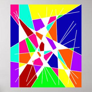 カラフルな抽象美術 ポスター