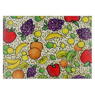 カラフルな新鮮な果物の台所まな板 カッティングボード