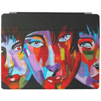 カラフルな日本人の抽象芸術の顔 iPadスマートカバー