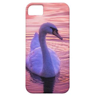 カラフルな日没の白鳥 iPhone SE/5/5s ケース