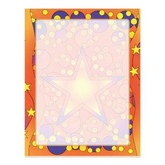 カラフルな星のデザイン レターヘッド