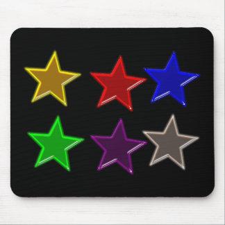カラフルな星ボタン マウスパッド