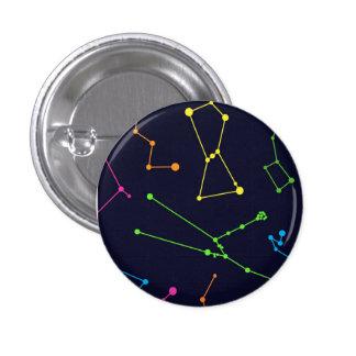 カラフルな星座 3.2CM 丸型バッジ