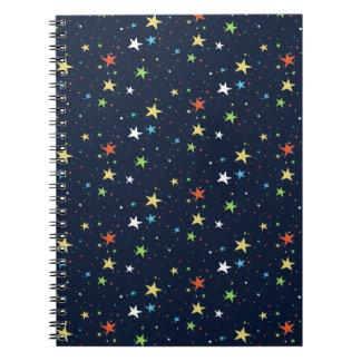カラフルな星明かりの空 ノートブック