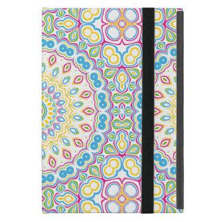 カラフルな春の曼荼羅の円形浮彫り iPad MINI ケース