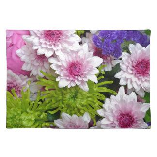 カラフルな春の花の花束 ランチョンマット