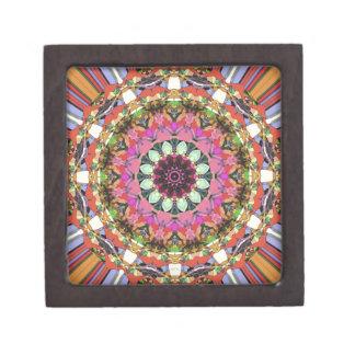 カラフルな曼荼羅のデザイン ギフトボックス