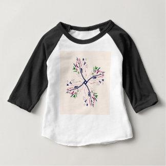 カラフルな曼荼羅のバニラ ベビーTシャツ