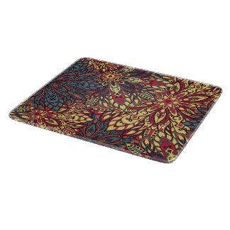 カラフルな曼荼羅パターン カッティングボード