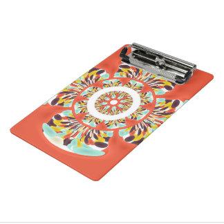 カラフルな曼荼羅 ミニクリップボード
