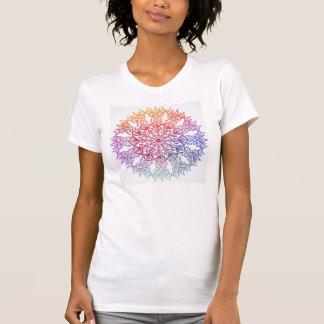 カラフルな曼荼羅 Tシャツ