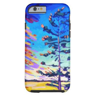 カラフルな松の木の絵画 ケース