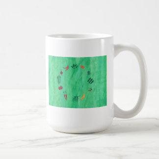 カラフルな果物と野菜のマグ コーヒーマグカップ