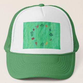 カラフルな果物と野菜の帽子 キャップ
