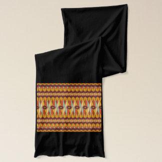 カラフルな民族パターン スカーフ