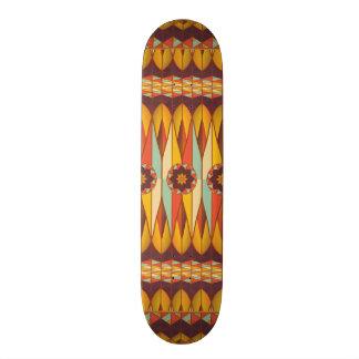 カラフルな民族パターン 21.6CM スケートボードデッキ