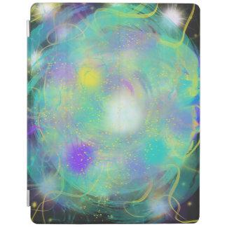 カラフルな水の青い抽象美術の絵画のデザイン iPadスマートカバー
