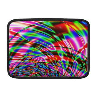 カラフルな水フラクタル MacBook スリーブ