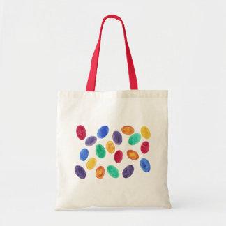 カラフルな水彩画のイースターエッグのゼリー菓子のバッグ トートバッグ