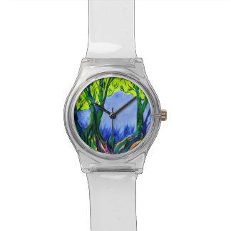 カラフルな水彩画の景色May28thの腕時計 腕時計