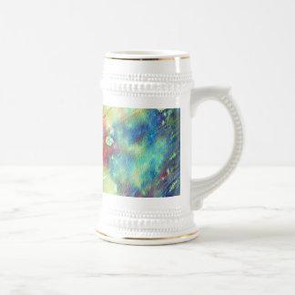 カラフルな水彩画の質 ビールジョッキ