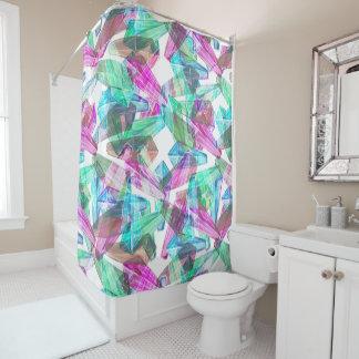 カラフルな水晶パターン シャワー・カーテン シャワーカーテン