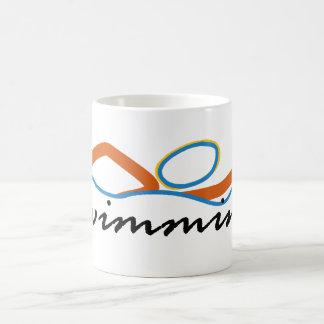 カラフルな水泳の記号 コーヒーマグカップ