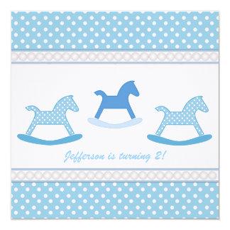 カラフルな水玉模様: 回転木馬のパーティの招待状 カード