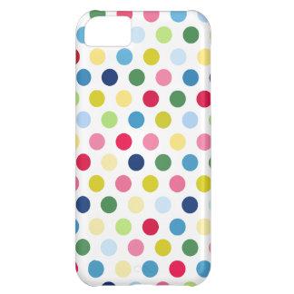 カラフルな水玉模様 iPhone5Cケース