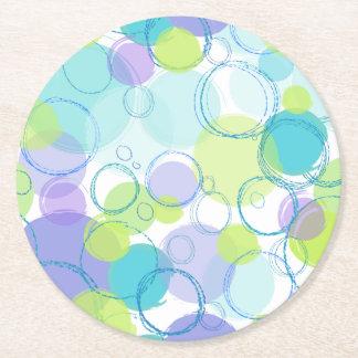 カラフルな泡 ラウンドペーパーコースター