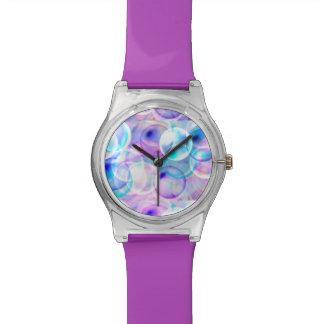 カラフルな泡! 腕時計