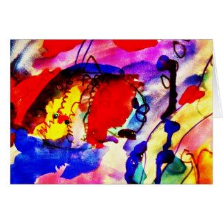 カラフルな海の子供の抽象美術のレインボーフィッシュ カード