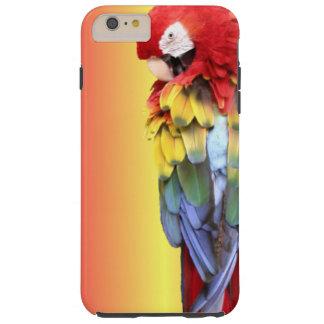 カラフルな深紅のコンゴウインコのオウムのiPhoneカバー Tough iPhone 6 Plus ケース