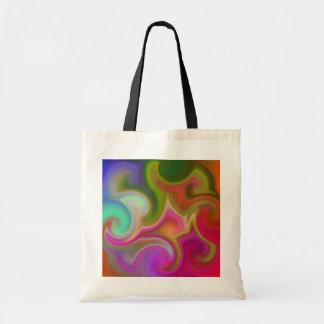 カラフルな渦巻の抽象芸術 トートバッグ