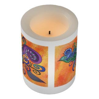 カラフルな渦巻は美しい蝋燭を作ります LEDキャンドル
