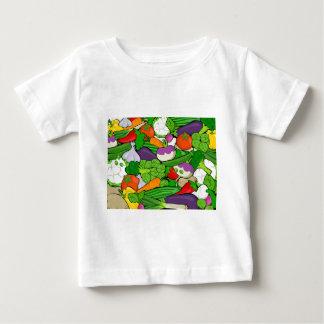 カラフルな漫画の野菜 ベビーTシャツ