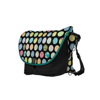 カラフルな点のバッグ メッセンジャーバッグ