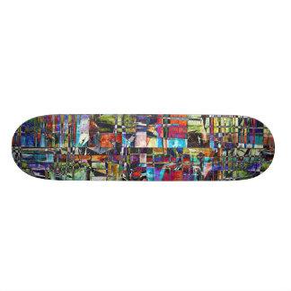 カラフルな無秩序の合成物 スケートボード
