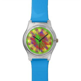 カラフルな無秩序パターン 腕時計