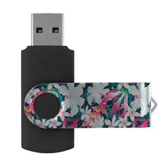 カラフルな熱帯パターン USBフラッシュドライブ