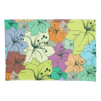 カラフルな熱帯花の継ぎ目が無いパターン 枕カバー