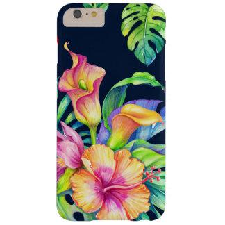 カラフルな熱帯花の花束のデザインGR3 iPhone 6 PLUS ベアリーゼアケース