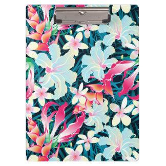 カラフルな熱帯花 クリップボード