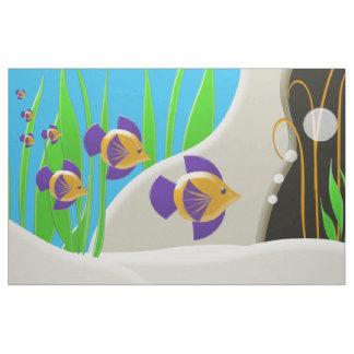 カラフルな熱帯魚 ファブリック