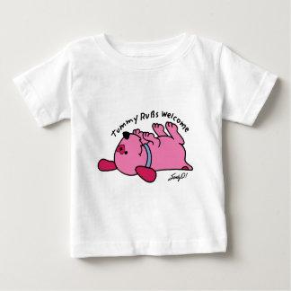 カラフルな犬の子犬 ベビーTシャツ