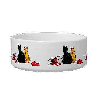 カラフルな猫のペットボウル ボウル